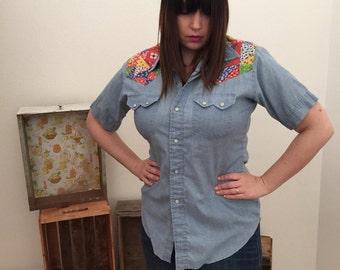 Dee Cee western wear appliqué shirt