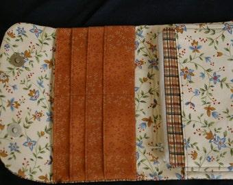 Womens Fabric Wallet, Handmade Womens's Wallet, Credit Card Holder, Womens Wallet, Clutch,  Phone Clutch