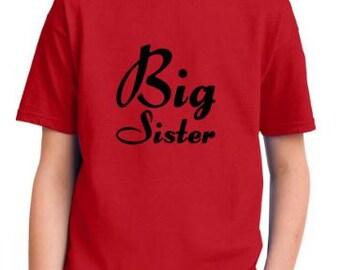 Big Sister Shirt Big Sis Big Sister T-Shirt Trendy Sister Shirt  Youth Sizes S-XL