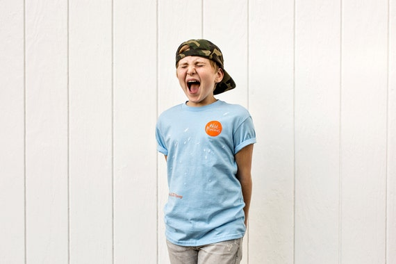 Wings In The Morning Photo Series T-Shirt in Sky Blue (Youth)