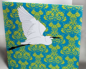 Greeting card, 'Gt. Egret'