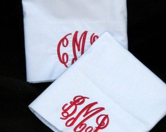 King size pillowcase monogramed