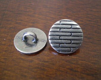 "3 - Stripe Metal Buttons with Shank  1/2"" (12mm)"