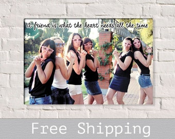 Best Friend Gift - Bridesmaid Gift - Sister Gift - Maid of Hornor Gift - Custom Canvas Print - Free Shipping