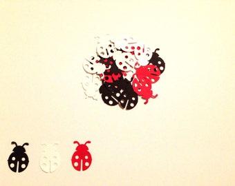 Ladybug Confetti - 100 ct - Ladybug Party Decorations - Ladybug Birthday - Ladybug Baby Shower - Baby Girl Birthday - Choose any color