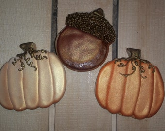 Fall Pumpkin and Acorn Thanksgiving cookies