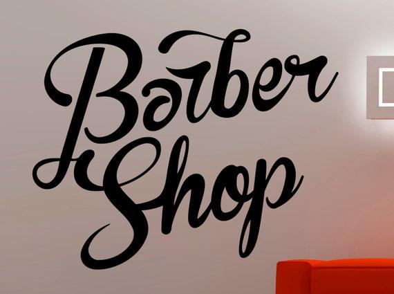 Barber Shop Wall Decal Hairdressing Salon Vinyl Sticker