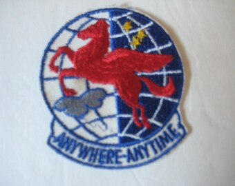 431st AREFS 1950s-60s vintage patch. Anywhere - Anytime