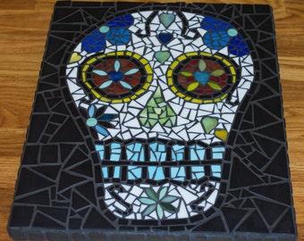 Mosaic sugar skull.