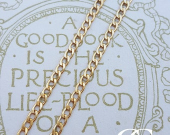 """9ct Yellow Gold Curb 2.2mm Chain Necklace 18"""" 20"""" 24"""""""