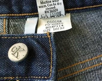 CK jeans Vintage 90's Dark Wash Retro High Waist Jeans Calvin Klein