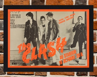 Framed The Clash French Concert Poster A3 Size Mounted In Black Or White Frame