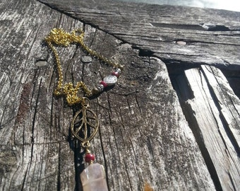 Enchanted Bohemian Ruby Necklace