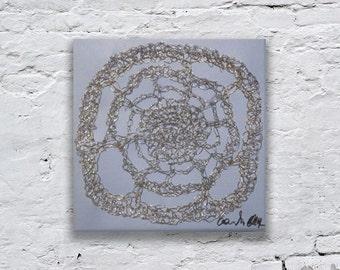 Metal Wall Art, Wire Sculpture, Mixed Media Art