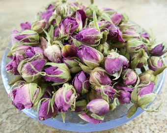 ROSE GORGEOUS Pink Top Quality Rosa damascena Whole Buds Dried Culinary Tea Craft