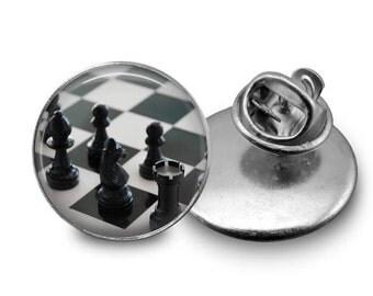 Chess  Tie Tack 16mm Tie Pin Lapel pin