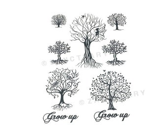 tree tattoo etsy. Black Bedroom Furniture Sets. Home Design Ideas