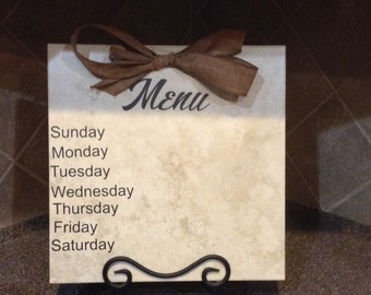 12x12 Tile Menu Board