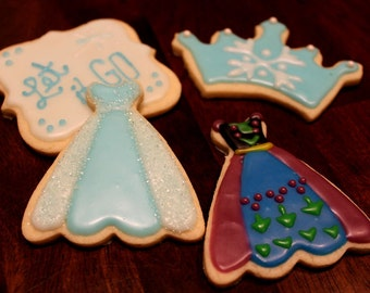 Winter Princess Decorated Sugar Cookies