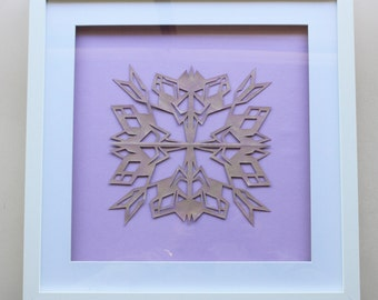 Framed Paper Snowflake