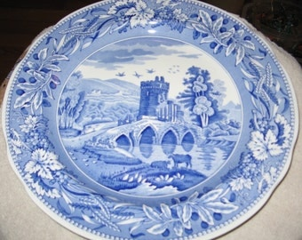 "The Spode Blue Room Collection ""LUCANO"" Blue and White Plate"