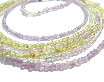 Necklace - Peridot, Amethyst and Silver 925