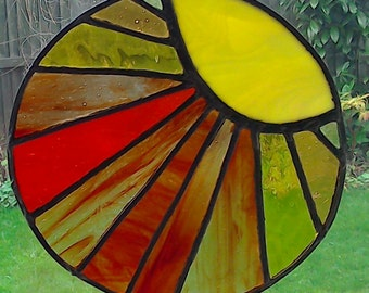 Artisan Glass Sunburst Suncatcher