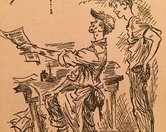 1950's Wild Geese Flying Book Illustration (2)