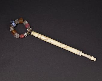 Antique Victorian Lace Making Bobbin MINNIE Bone English Circa 1870