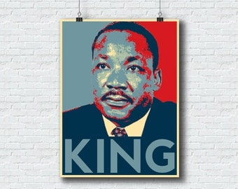 Martin Luther King Jr - Printable Wall Art Home Decor Civil Rights Martin Luther - 18x24 Format