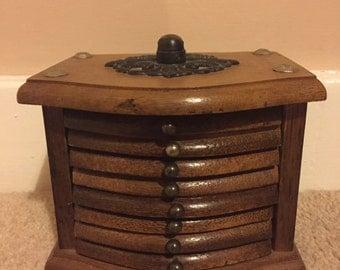 Vintage Coaster Set, Drawers