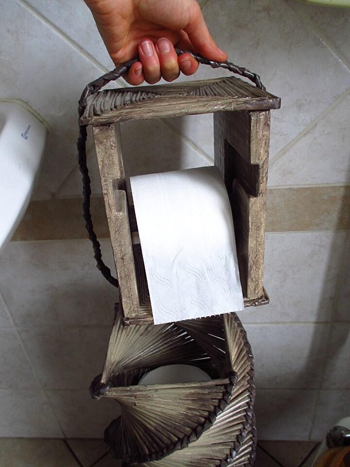 Porta carta igienica portarotoli bagno cesto - Dove mettere il porta carta igienica ...