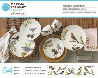 Martha Stewart Botanical Birds Cut Outs, Decopatch paper, decoupage paper, craft paper, scrapbook paper