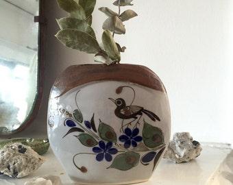 Vintage Mexican Tonala bud vase