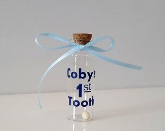 Personalized Baby's 1st Tooth Keepsake/Miniature Glass Bottle/Precious Child's Keepsake
