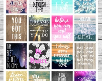 16 Motivational Quote Stickers