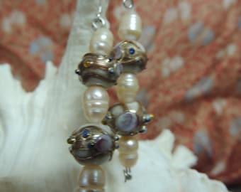lampwork fantasy earrings