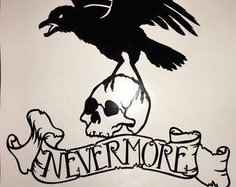 Poe, Halloween, Wall Art, Decal, Halloween Decal