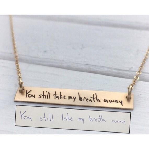 Custom writing companies necklaces