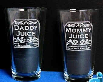 Mommy & Daddy Juice - in a Pint, Stein, or Wine (Wine Dbl Sided)