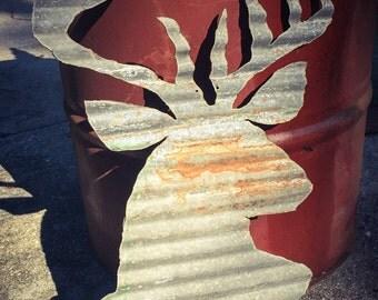 Metal deer head cut out