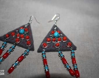 Tumar felted earrings