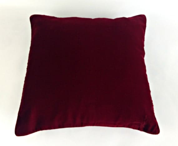Velvet Pillow Burgundy Pillow Plush Dorm Throw By
