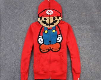 Mario Zip Up Hoodie