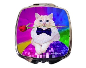 Erik Catango Cat Art Compact Mirror