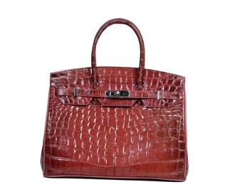 Rebecca bag in crocodile