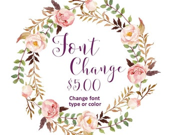 ADD-ON / Change font type or color