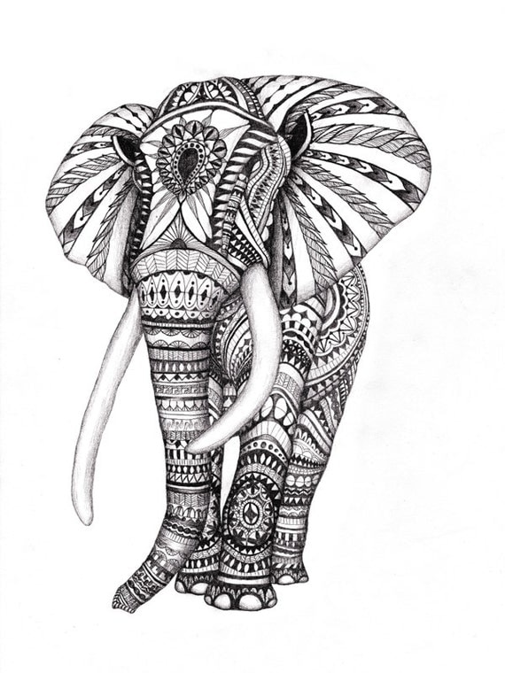 Temporary elephant tattooincludes 2 tattoos elefant for Temporary elephant tattoo