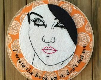 Beth Ditto - Embroidery Hoop Art - Handmade