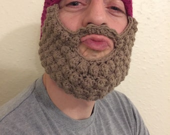 Crocheted Beanie 'n' Beard hats